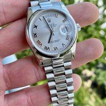 Rolex Day-Date 36 Platinum 36mm Silver Roman numerals United States of America, Texas, Houston