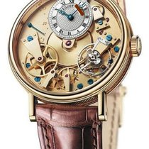 Breguet Yellow gold Manual winding Gold Roman numerals 37mm pre-owned Tradition
