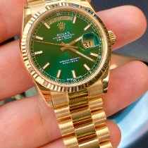 Rolex Day-Date 36 Yellow gold 36mm Green