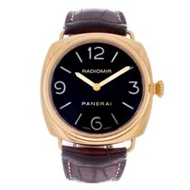 Panerai Yellow gold Automatic Black 45mm pre-owned Radiomir