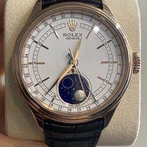 Rolex Cellini Moonphase Or rose 39mm Blanc Sans chiffres