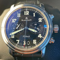Blancpain Léman Fly-Back Stahl 40mm Schwarz Arabisch