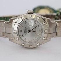 Rolex Lady-Datejust Pearlmaster Oro bianco 29mm Argento Romani Italia, Parete