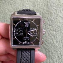 TAG Heuer Monaco Calibre 12 Steel 39mm Black No numerals