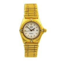 Breitling Желтое золото Кварцевые Белый Без цифр 28mm подержанные Callistino