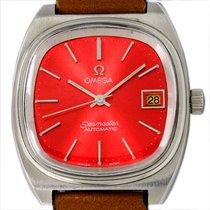 Omega Seamaster Acero 35mm Rojo Sin cifras