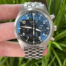 IWC Pilot Chronograph pre-owned 42mm Black Chronograph Date Steel
