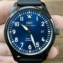 IWC Pilot Mark pre-owned 41mm Blue Date Calf skin