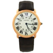 Cartier Ronde Louis Cartier Rose gold 36mm Silver Roman numerals United States of America, California, Fullerton