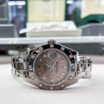Rolex Lady-Datejust Pearlmaster Aur alb 29mm Roz Fara cifre