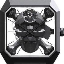 Bell & Ross Керамика 45mm Механические BR-01-CYBER-SKULL новые