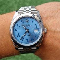 Rolex Datejust Steel 41mm Blue Arabic numerals