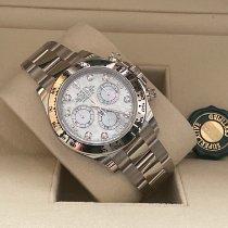 Rolex Daytona Weißgold 40mm Perlmutt Arabisch Schweiz, Plaffeien