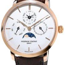 Frederique Constant FC-775V4S4 Acier Manufacture Slimline Perpetual Calendar 42mm nouveau