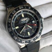 Breitling Superocean GMT Сталь 41mm Черный