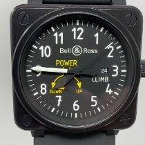 Bell & Ross BR 01-97 Réserve de Marche Staal 45mm Zwart Arabisch
