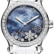 Chopard 278578-3001 Happy Snowflake Staal 2021 Happy Sport 36mm nieuw