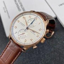 IWC Portuguese Chronograph IW371611 Foarte bună Aur roz 41mm Atomat