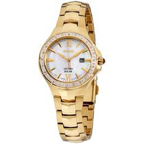 Seiko Coutura Steel 27mm Mother of pearl Roman numerals