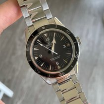 Omega Steel Automatic Black Arabic numerals 41mm pre-owned Seamaster 300
