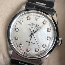 Rolex Air King Precision Steel 34mm Mother of pearl No numerals United States of America, New York, New York, Miami office