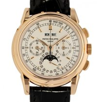 Patek Philippe Perpetual Calendar Chronograph Oro rosa 40mm Champagne Senza numeri