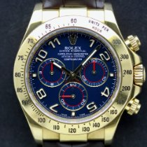 Rolex Daytona Gelbgold 40mm Blau Schweiz, Geneva