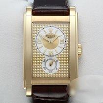 Rolex Cellini Prince Yellow gold 27.5mm Champagne Roman numerals