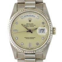 Rolex Белое золото Автоподзавод Cеребро Без цифр 36mm подержанные Day-Date 36