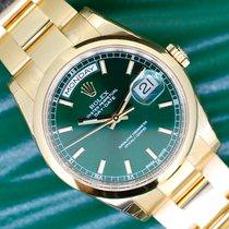 Rolex Day-Date 36 Oro amarillo 36mm Verde