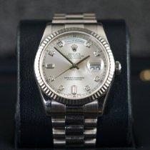 Rolex Day-Date 36 White gold 36mm Silver No numerals Indonesia