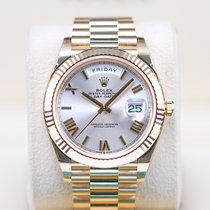 Rolex Day-Date 40 Yellow gold 40mm Silver Roman numerals Indonesia