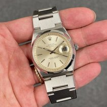 Rolex Oyster Perpetual Date Acciaio 35mm Argento