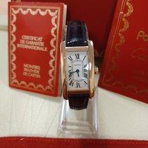 Cartier Tank Américaine 2503 God Rosa guld 19mm Kvarts