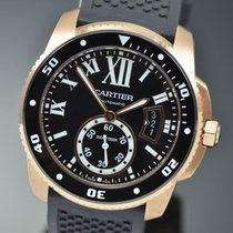 Cartier Calibre de Cartier Diver Pозовое золото 42mm Черный Римские