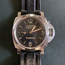 Panerai Сталь Механические Черный Aрабские 47mm подержанные Luminor Marina 1950 3 Days