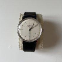 Junghans max bill Hand-winding pre-owned 34mm Champagne Leather