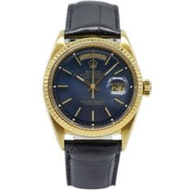 Rolex Day-Date 36 Yellow gold 36mm Blue