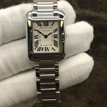 Cartier Tank Anglaise Steel 23mm Silver Roman numerals United States of America, New York, New York