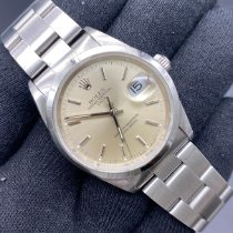 Rolex Oyster Perpetual Date Acciaio 34mm Argento Senza numeri