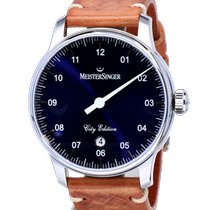 Meistersinger new Automatic Display back Limited Edition Quick Set Only Original Parts 43mm Steel Sapphire crystal