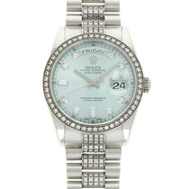 Rolex Day-Date 36 Platinum 36mm Blue United States of America, California, Beverly Hills