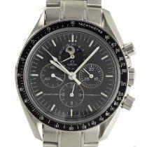 Omega Speedmaster Professional Moonwatch Moonphase Stahl 42mm Grau