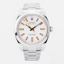 Rolex Milgauss Acero 40mm Blanco Sin cifras
