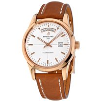 Breitling Transocean Day & Date Rose gold 43mm Silver No numerals United States of America, New York, Greenvale