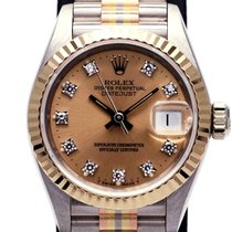 Rolex White gold Automatic Gold 26mm pre-owned Lady-Datejust