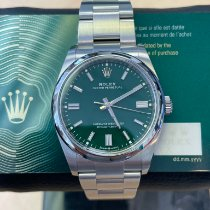 Rolex Oyster Perpetual 36 pre-owned 36mm Green Steel