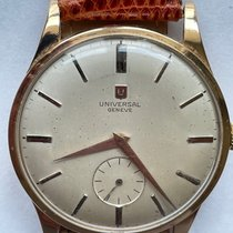 Universal Genève Rose gold Manual winding White 38mm pre-owned