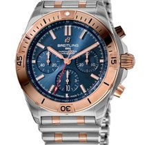 Breitling Chronomat Gold/Steel 42mm Blue No numerals United States of America, California, Los Angeles