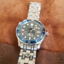Omega Seamaster Diver 300 M pre-owned 41mm Blue Date Steel